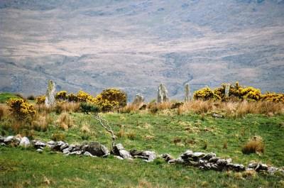 Approaching Ardgroom Stone Circle.