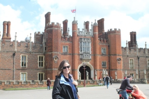 Carol at Hampton Court