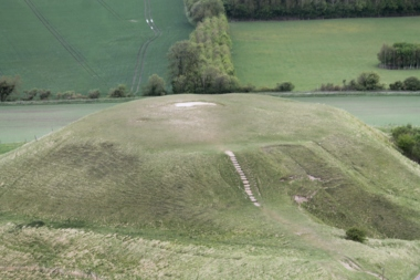Dragon Hill -- viewed from the White Horse