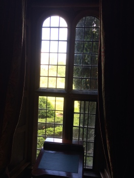 View through window at Littlecote House