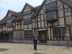 The front of Shakespear's house (where he was born and raised)