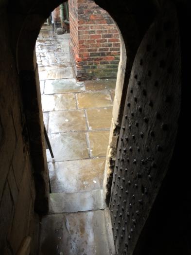 Door leaving Monk's Bar