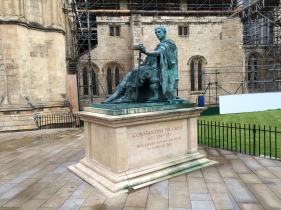 Statue outside of the church of Constantine who was named Roman Emperor in York in 306 AD.
