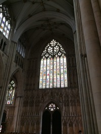 Stained glass in York Minster
