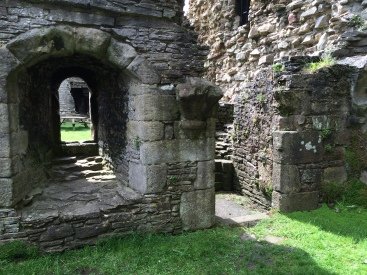 Middleham Castle-- In what used to be the chapel