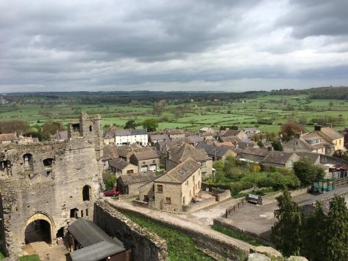 Village of Middleham beyond the castle walls
