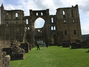 Rievaulx Abbey - Walking up was once the Nave towards the Presbytery.