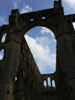 Rievaulx Abbey - archway into Presbytery.