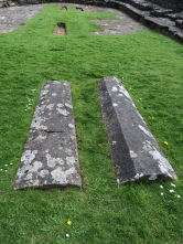 Rievaulx Abbey - Tombs from what was the floor of the Chapter House