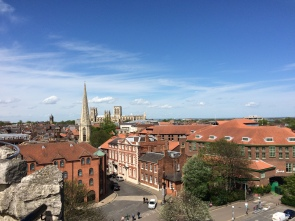 View from Clifford's Tower; York Minster in the background