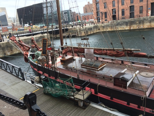 Old Baltic trading ship. Pulled up from the bottom of a harbor and restored.