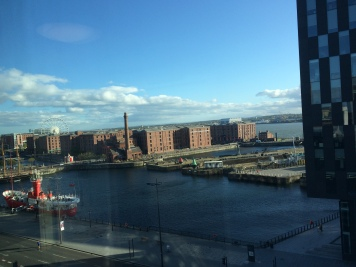 View from our hotel -- looking toward Albert Dock