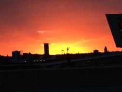 Sunset over the docks