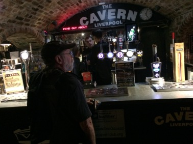 Mike getting a pint