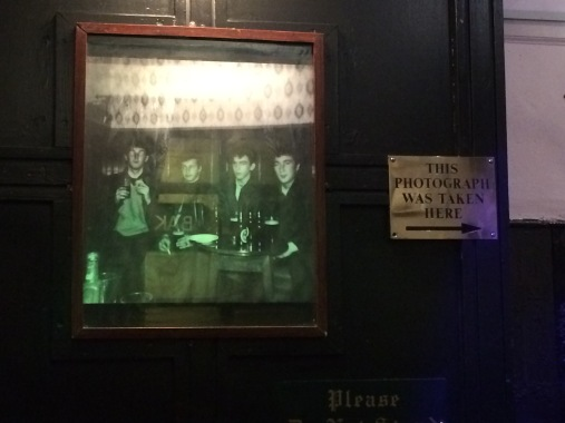 At the Grapes -- photo of the Beatles in the booth across from where we were sitting