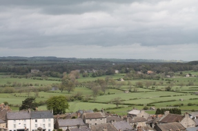 Views from the castle keep - Middleham village and the Yorkshire Dales.