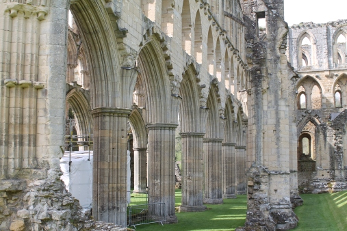 Rievaulx Abbey - Windows along the choir
