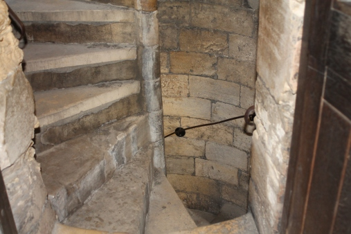 Spiral staircase in Clifford's Tower