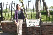 Carol at Penny Lane