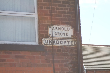 Arnold Grove -- George's street. (And pseudonym he'd use when checking into hotels)