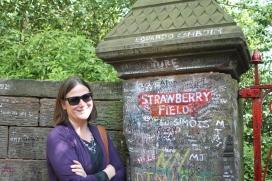 Carol at Strawberry Fields