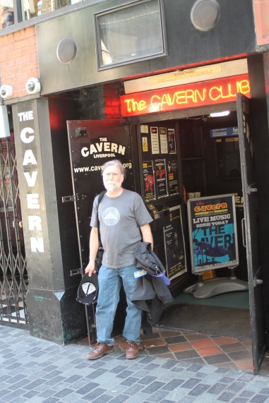 Mike at the Cavern Club