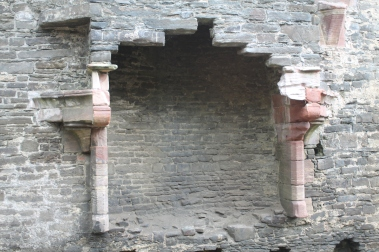Fireplace in great hall