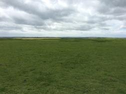 Looking across Uffington Castle