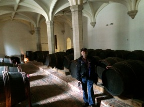 Mike in the Wine Cellar