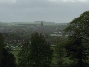 Present Day Salisbury Cathedral visible from Old Sarum