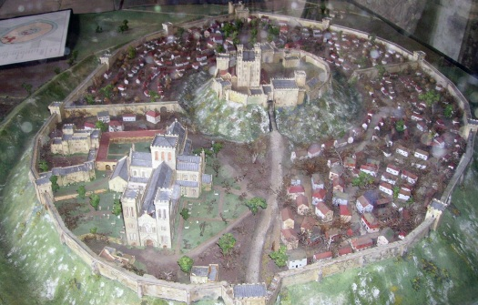 Reconstruction of what Old Sarum would have looked like.