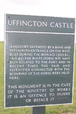 Uffington Castle Sign