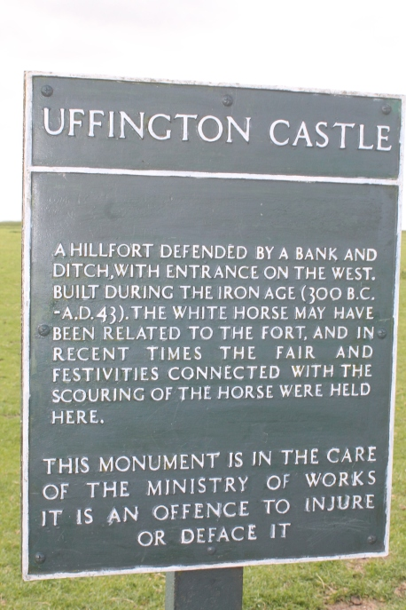 Uffington Castle Sign