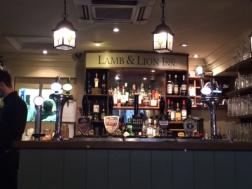 Taps at the Lamb and Lion pub in York