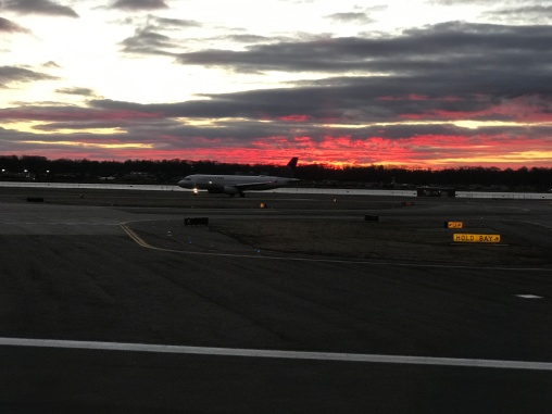 Crack of dawn at National Airport.