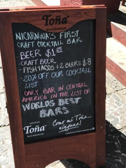 Nicaragua's first craft cocktail bar