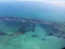 Flying over the Florida Keys.