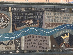 Mosaic capturing the history of England