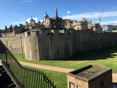 Side view of the Tower of London
