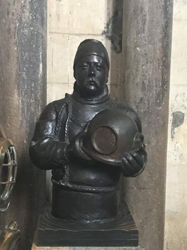 William Walker bust inside Cathedral