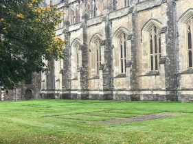 Walls of Winchester Cathedral