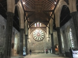 The Great Hall, with King Arthur's Round Table. (Dating to 13th Century. )