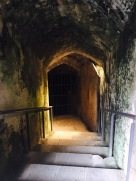 Passageways beneath Winchester Castle.