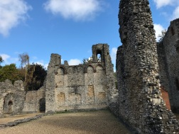 Wolvesey castle. The Bishop's great hall.