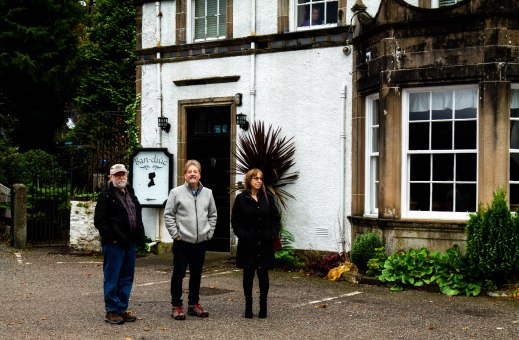 Mike, Glenn and Maureen at Inverary